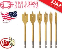 Paddle Drill Bits Carbon Steel with Titanium Coating Wood Sp