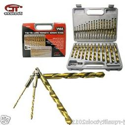 "30pc Quick Change Titanium Drill Bit Set 1/4"" Hex Shank Jobb"