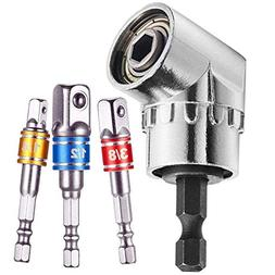 Right Angle Drill+Impact Grade Driver Sockets Adapter Extens