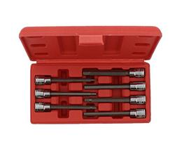 "ABN Extra-Long SAE Standard Socket 7-Piece Set, 3/8"" Inch"