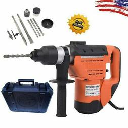 """SDS 1-1/2"""" Electric Rotary Hammer Drill Plus Demolition Bits"""