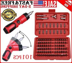 100pc Security Bit Set Torx Star Tamper Screws Hex Key Phill