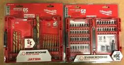 Milwaukee Shockwave Drill Bits- 2 set lot- drill and impact