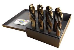 """Drill Hog Silver & Deming Drill Bit Set 9/16"""" to 1"""" Made in"""