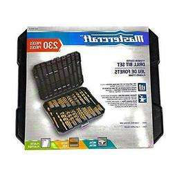 Titanium Drill Bit Set for Metal - 230pc Kit - Coated HSS -