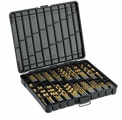 Titanium Drill Bit Set for Metal 230pc Kit Coated HSS From 1