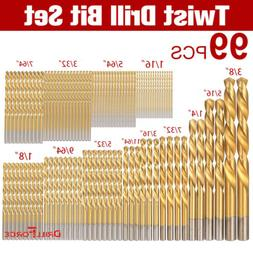 1/16-3/8 Inch Titanium High Speed Steel Drill Bits for Plast