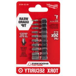 Milwaukee Torx Security Bit Set Impact Driver Bits Shockwave