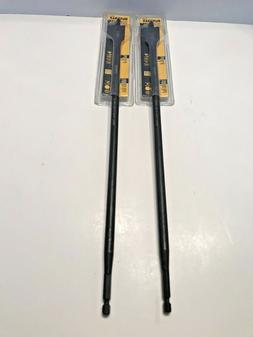 "TWO  DEWALT  DW1594  7/8"" X 16"" SPADE BIT FOR WOOD BORING"