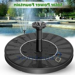 US Solar Power Fountain Water Pump Floating Panel Garden Poo